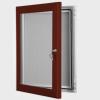 exterior lockable felt notice board - red brown