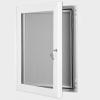 exterior lockable felt notice board - signal white