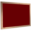 wood framed felt notice board - burgundy