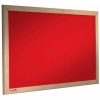 wood framed felt notice board - cherry