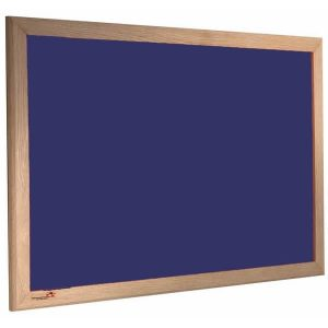 wood framed felt notice board - oxford