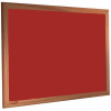 Hot Salsa - 2210 - Forbo Nairn pinboard with wood frame