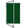 lockable felt notice board - green