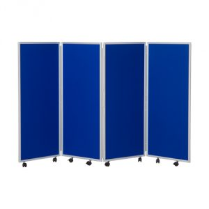 1200mm high 4 panel concertina room divider