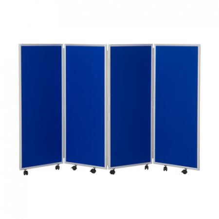 1200mm high 4 panel concertina room divider