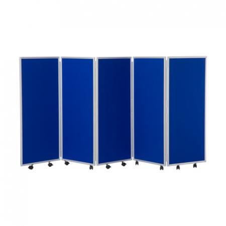 1200mm high 5 panel concertina room divider