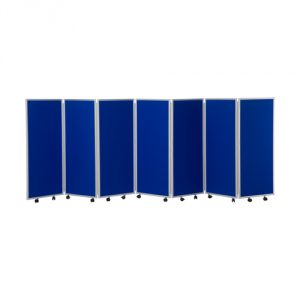 1200mm high 7 panel concertina room divider