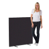 1200 x 1200 woolmix office screen - black