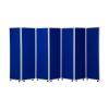 1800mm high 7 panel concertina room divider