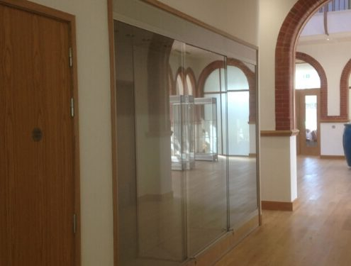 Built in custom glass display cabinet – Argyll and Bute Council