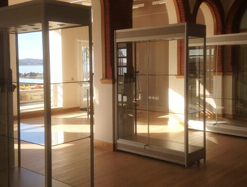 Custom glass display cabinets – Argyll and Bute Council