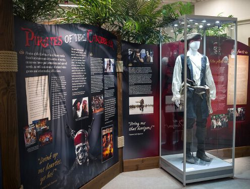 Custom mannequin display case – Shiver Me Timbers Exhibition. Photo courtesy of Sheridan Design