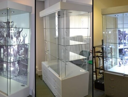 museum display cabinets - daventry museum