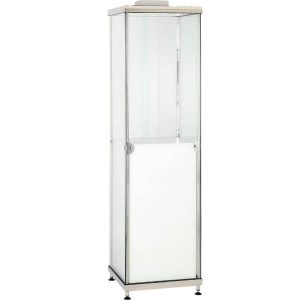 ADPW small upright cabinet with white plinth hire