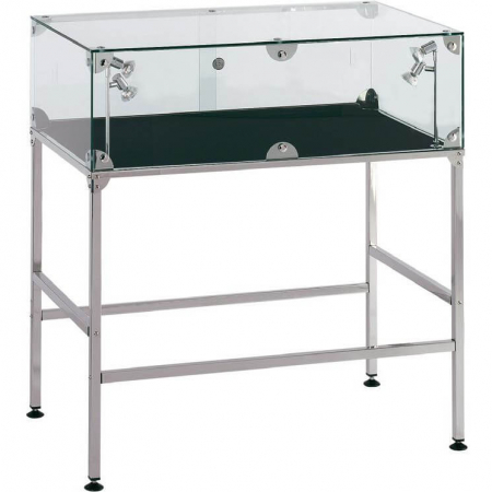 AT2 table display cabinet hire