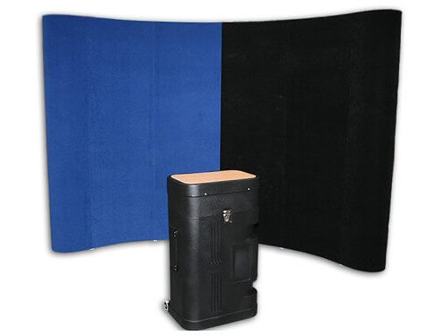 fabric pop up hire with case