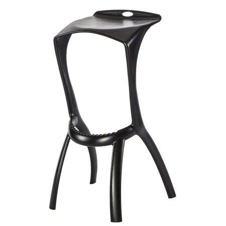 Hexa bar stool in Black