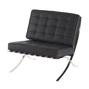 Hire Barcelona chair in Black