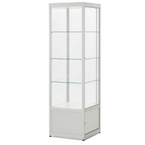 Hire medium upright glass cabinet BECW