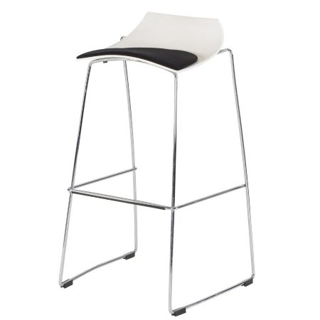 Hire Slice stool in White and Black