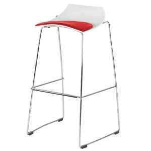 Hire Slice stool in White and Red