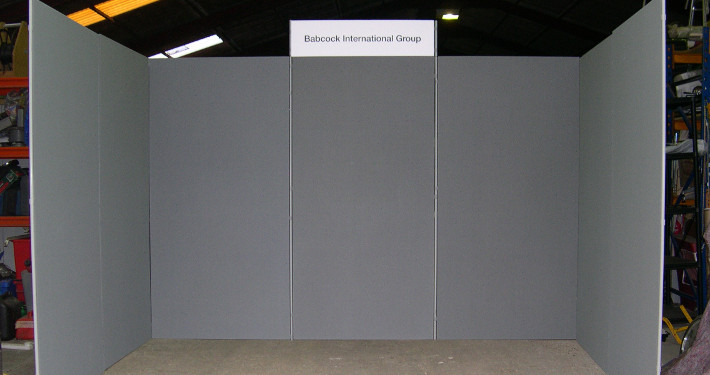 large display panel hire to create a booth