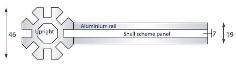 shell scheme profile dimensions