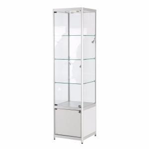 TS31 tallboy glass display case hire