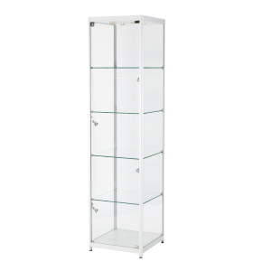 TS32 tallboy glass display case hire