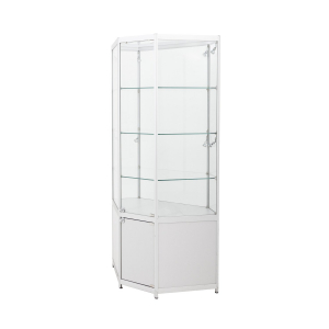 TS35 corner display cabinet hire