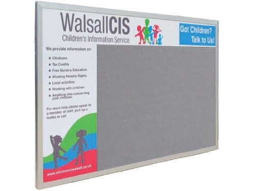Custom felt printed notice board
