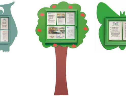 Custom notice boards in 3 shapes - Owl, Tree and Butterfly