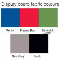Display board colour swatch