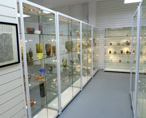 isle of wight museum glass cabinets filled