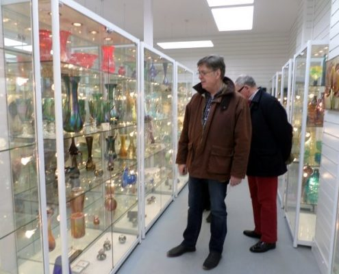 First visitors to Isle of Wight Glass Museum