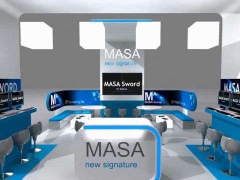 Exhibition Stand Design - MASA 3D Stand Animation