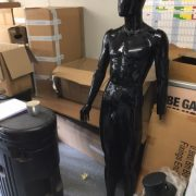Complete modular black male mannequin