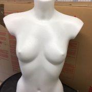 Female Mannequin Torso – desk top in white