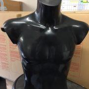 Male Mannequin Torso – desk top in black