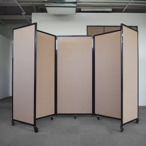 3 panel 360 acoustic room dividers - Beige