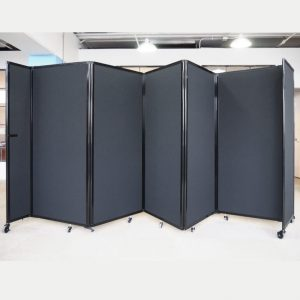 5 panel 360 acoustic room dividers - Black