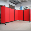 5 panel 360 acoustic room dividers - Red