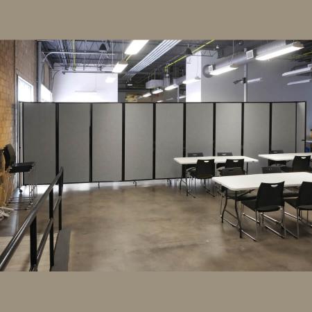 9 panel 360 acoustic room dividers - Cloud Grey