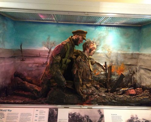 The Rifles Museum Display Case - Before refurbishment