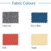 Fabric colours for office screens