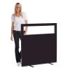 1200 (w) X 1200 (h) glazed office screen - Black