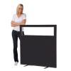 1200 (w) x 1200 (h) glazed office screen - Black Woolmix