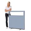 1200 (w) x 1200 (h) glazed office screen - Crystal Woolmix