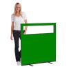 1200 (w) X 1200 (h) glazed office screen - Green