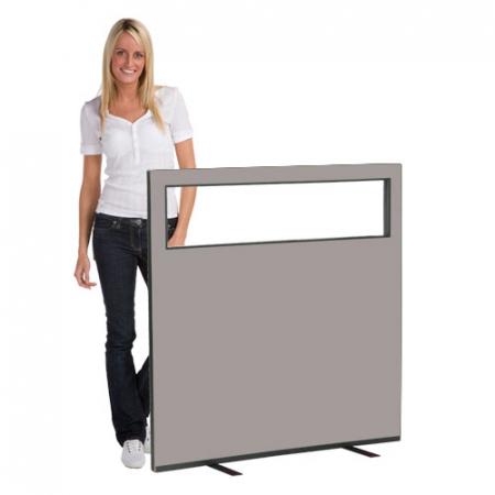 1200 (w) X 1200 (h) glazed office screen - Grey